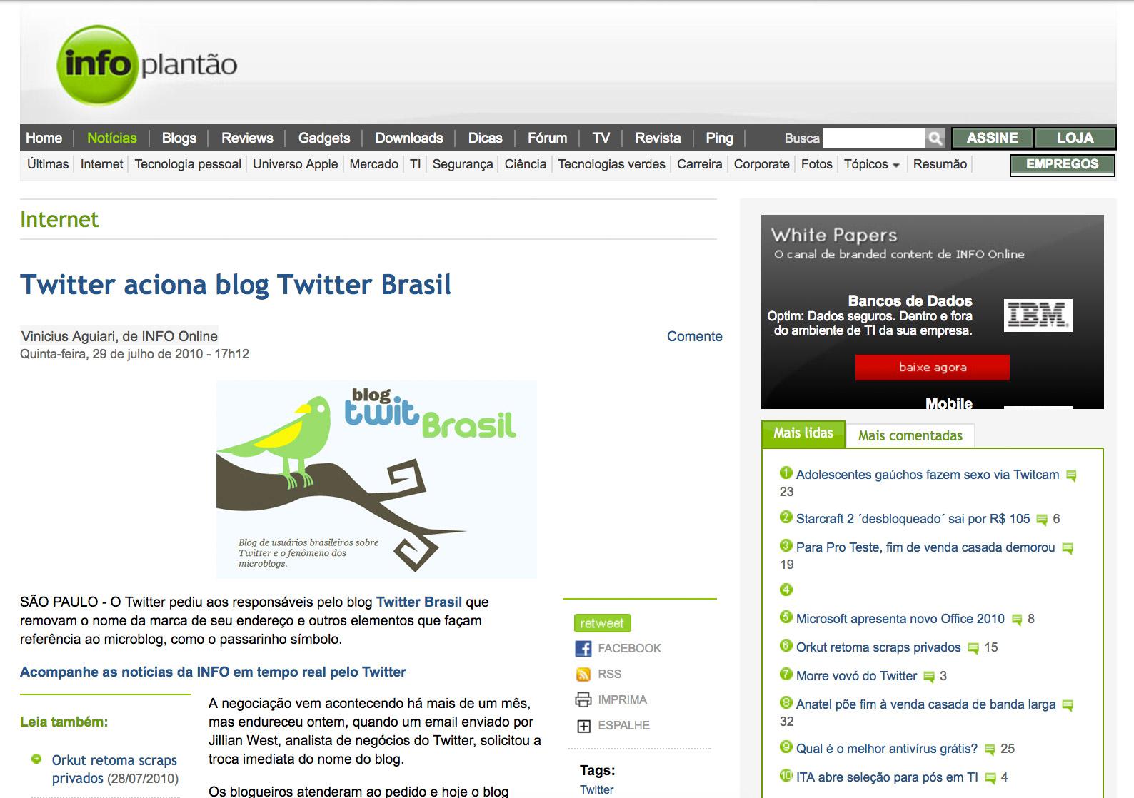 Twitter Fecha Blog Brasileiro - #freeTwitterBrasil - Fernando Souza