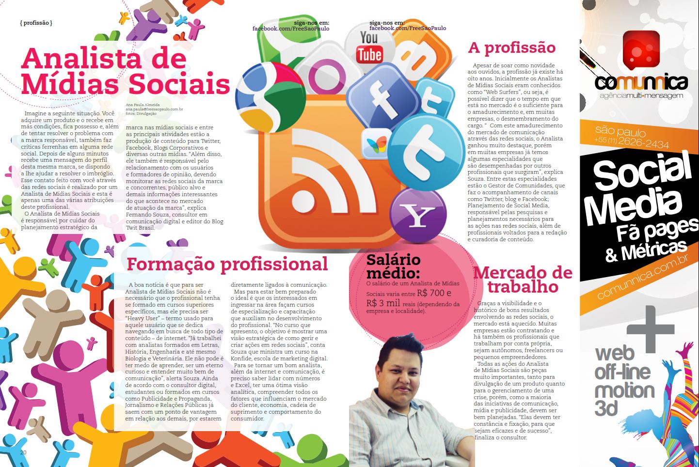 Fernando Souza - Matéria Revista Free-SP